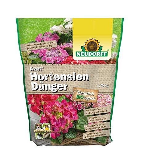 Azet Hortensiendünger Dünger auch für Kamelien Bougainvillea organischer Langzeitdünger 1,75 kg 4,54 EUR/ 1 Kg