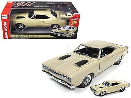 1969 Dodge CGoldnet Super Bee 1 18 + Bonus 1 64 Replica Auto World Ertl AMM1094