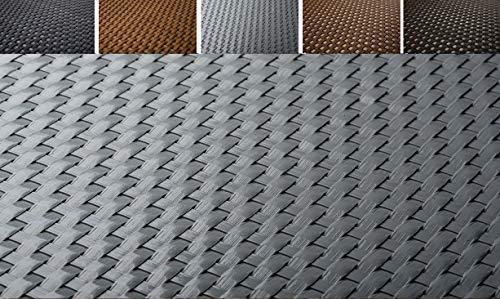 KADAX Sichtschutz für Balkon, Terrasse, Zaun, wetterfeste Sichtschutzmatte aus PE-Rattan, Balkonbespannung mit Kabelbinder, Sichtschutzzaun, Balkonverkleidung, Windschutz (1 m x 3 m, hellgrau)