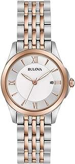 Bulova Women's Quartz Watch Metal Bracelet analog Display and Stainless Steel Strap, 98M125