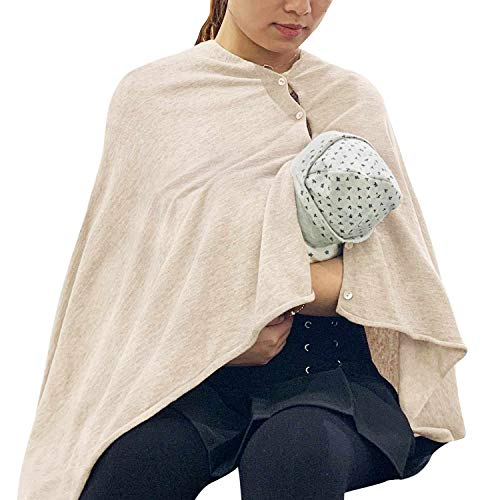 Best Price Nursing Cover Poncho for Breastfeeding Adjustable Knitted Scarf with Button Closure for P...