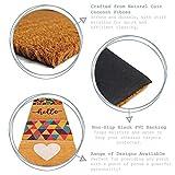 Nicola Spring Fußmatte aus Kokosfaser – rutschfeste PVC-Unterseite – Blätter-Motiv – 90 x 60 cm - 2