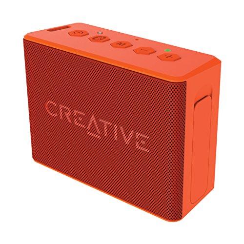 Creative MUVO 2c - Leistungsstarker, kompakter, wetterfester Wireless Bluetooth Lautsprecher (für Apple iOS/Android Smartphone, Tablet/MP3) orange