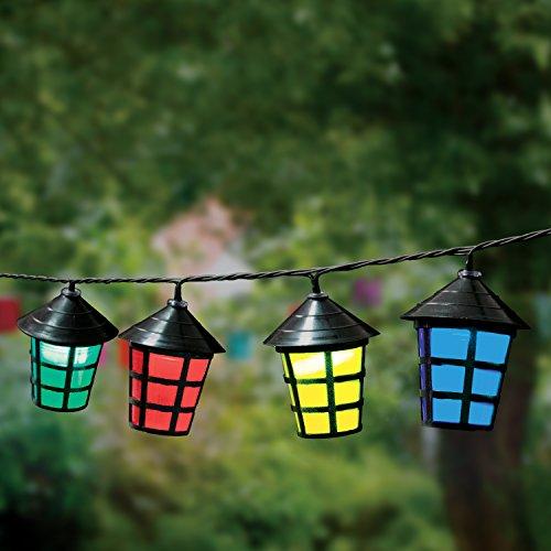 Lanterne Colorate Assortite a Striscia da Giardino Benross GardenKraft 17300 (Pacco da 70) - Nera, Plastica, elettrico