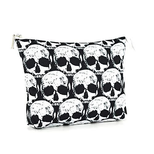LimeWorks Kulturbeutel Reisebeutel Kosmetiktasche Motiv Totenkopf-Muster Skull Schädel