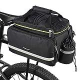 West Biking Bike Rear Pannier Bag Waterproof, 35L Large Capacity Multi-Function Bicycle Rack Rear Carrier Bag, Detachable Bike Tail Seat Trunk Bag Handbag Shoulder Strap Bike Storage Bag