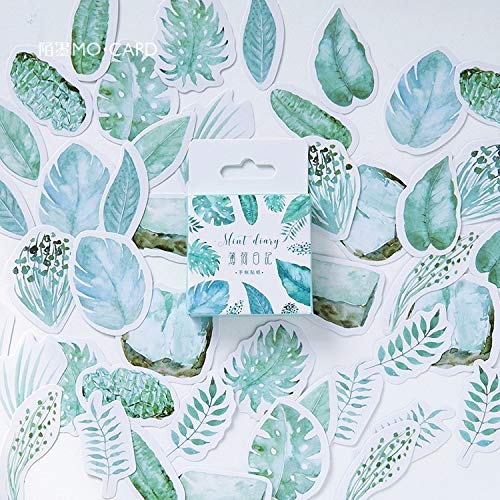 45 Pcs/pack Mint Plants Decorative Washi Stickers Scrapbooking Stick Label Diary Stationery Album Stickers