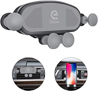 Ebow Air Vent Phone Holder Universal Auto-Retractable Hands Free Gravity Phone Mount Stable Car Cradle Mount 360 Degree Adjustable Car Phone Holder for All Smartphone (Black)