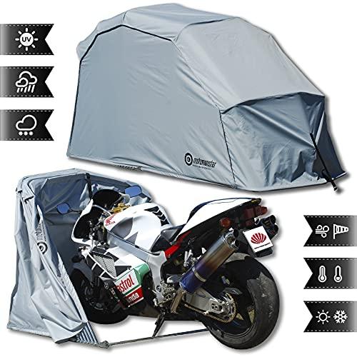 Garage pieghevole per moto, telone di protezione a tenda, misura L, grigio