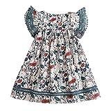 Obestseller Röcke für Mädchen Kleinkind Kinder Baby Mädchen Kleidung Spitze Blumendruck Party Prinzessin Kleider Spitze Fleece Floral Princess Kleid