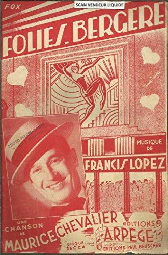Folies bergere. fox chante. Une chanson de Maurice Chevalier
