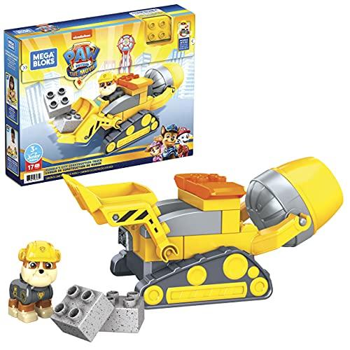 Mega Bloks Coche para construir, 3 Vehículo de juguete de bloques de construcción, regalo para niños +1 año, Mattel GYW91