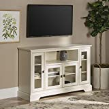 WE Furniture Traditional Wood Stand for TV's up to 56' Living Room Storage, 52', White