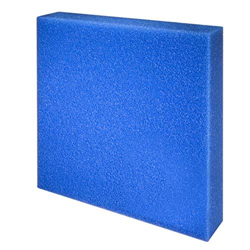 JBL 62566 Mehrweg-Schaumstoff für Aquarienfilter gegen alle Wassertrübungen, Filterschaum blau grob