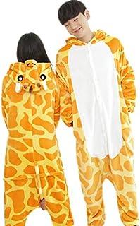 b06e8c4f635b6 BLACK SUGAR Pyjama Girafe XL Kigurimi Genouillère Combinaison Déguisement Adulte  Adulte Adolescent Unisexe Peluche Doux Bonne