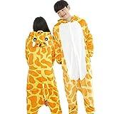 Mardi Gras PYJAMA Girafe M Kigurimi Pyjama Girafe Genouillère Combinaison Déguisement Adulte Girafe Pour Adulte & Adolescent Unisexe En Peluche Très Doux Très Confortable (M : 155-163cm, Girafe)