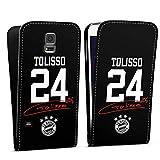 DeinDesign Flip Case kompatibel mit Samsung Galaxy S5 Neo Tasche Hülle Tolisso #24 FC Bayern München Trikot
