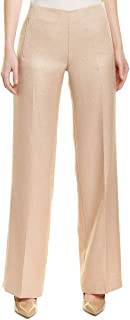ELIE TAHARI Womens Gold Metallic Wide Leg Wear To Work Pants US Size: 6