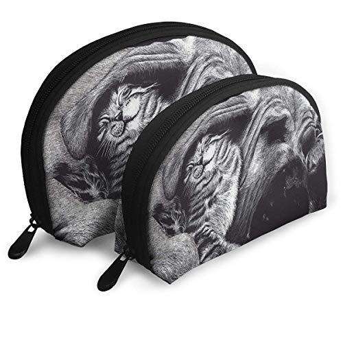 XCNGG Storage bag Dogs Cats Painting Art Portable Travel Makeup Handbag Waterproof Toiletry Organizer Storage Bags