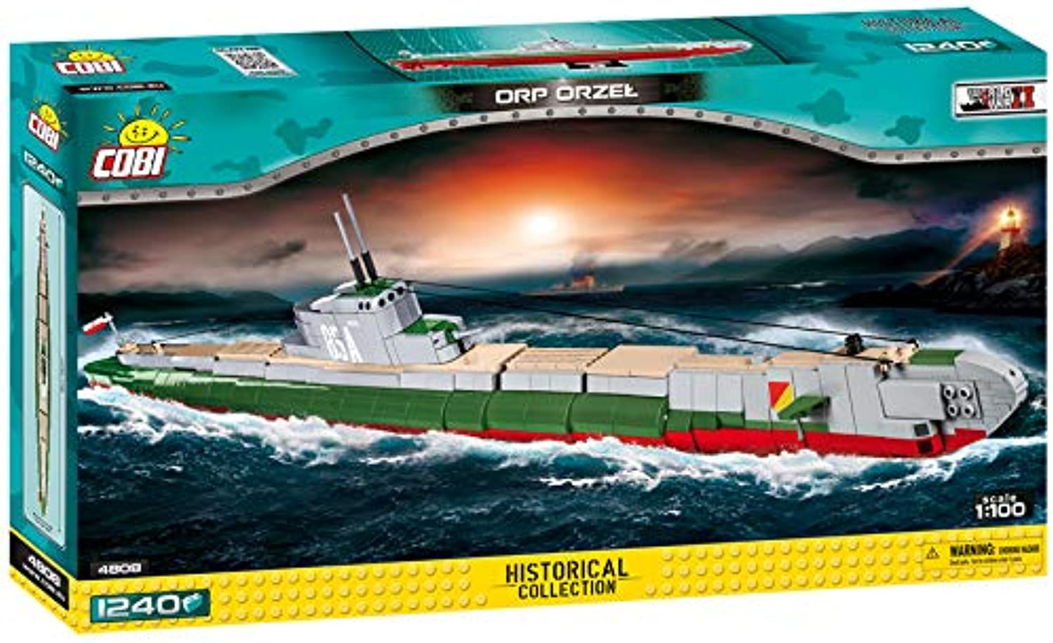Cobi 4808 Polish Submarine ORP Orzel (Eagle) 1240 building bricks