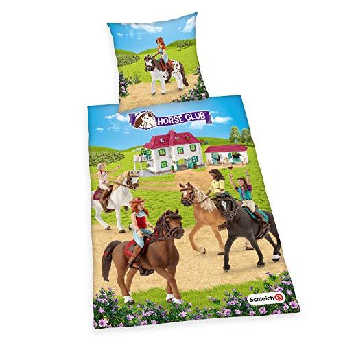 Herding Schleich Bettwäsche-Set, Cotton, mehrfarbig, Deutsche Größe