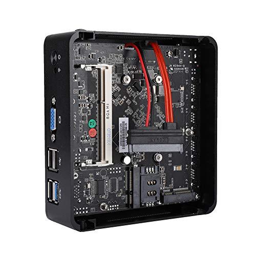 ASHATA コンピュータホストソフトルーティング ネットワークルーティング 4ポートネットワークインダストリアル サイレント 安定した熱放散 J1900 8GB RAM 64GB SSD 100-240V(USプラグ)