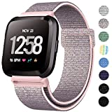 ANNYOO Kompatibel für Fitbit Versa Armband & Versa Lite Armband & Versa 2 Armband Damen Herren
