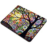 Wantu Gaming Mouse Pad,Funny Design Personalized Non-Slip Rubber Mat (Abstract Morden Tree)