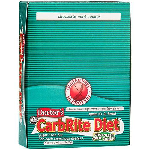 Doctors CarbRite Diet Chocolate Mint Cookie Bars, 2 oz, 12 count