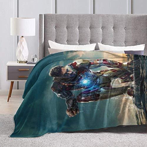 zhenglongbaihuodian Iron Man-Filme werfen Fleece-Decke Superweiche luxuriöse Plüschdecken, Wintercouch-Bettsofa-dekoratives Mikrofaser-Fleece wirft flockige Wollfleece-Decken. 60 'x 50'