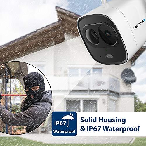 Blaupunkt 5000092 VIO-BX20 DuoCam VIO-BX20-Full-HD Sicherheitskamera und LED-Außenleuchte mit Bewegungssensor-Hören und Sprechen via Gratis App, Push-Nachrichten, 30m IR-Nachtsicht, Schutzklasse IP67
