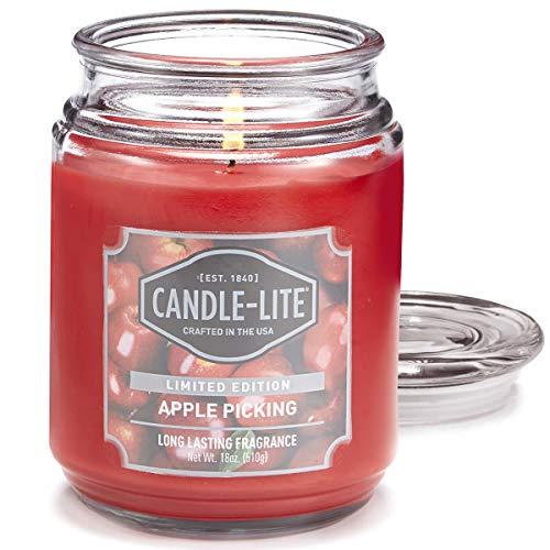 Candle-lite ® Duftkerze im Glas - Apple Picking (510g) - angenehmer Duft von frischen Äpfeln und Buttercreme - Kerze mit bis zu 110 Stunden Brenndauer