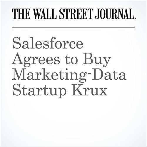 『Salesforce Agrees to Buy Marketing-Data Startup Krux』のカバーアート