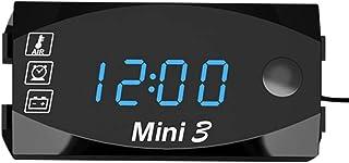 mewmewcat Motocicleta DC 6V-30V 3 em 1 relógio digital + termômetro + voltímetro de tensão IP67 medidor à prova d'água mon...