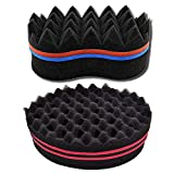 Xinlie Hair Sponge Brush Twists Dread Afro Coils Hair Curl Brush Hair Brush