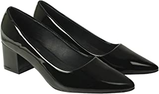 Flat n Heels Womens Black Pumps FnH 853-BK