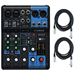 """Save with this bundle. Package includes: Yamaha MG06X 6 Input Stereo Mixer (with SPX Effects) w/ (2) Acessables XLR Mic Cables 2x Mic/Line Combo Inputs 4x 1/4"""" Line Inputs Includes (2) XLR Mic Cables! TRS 1/4"""" Stereo Outs"""