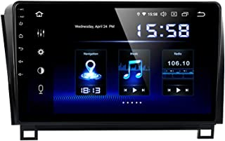 Dasaita 10 inch Large Screen Single Din Android 9.0 Car Stereo for Toyota Tundra 2007 to 2013 and Sequoia 2008 to 2018. Radio with GPS Navigation 4G Ram 64G ROM Built in DSP Dash Kit GPS Meomery Card