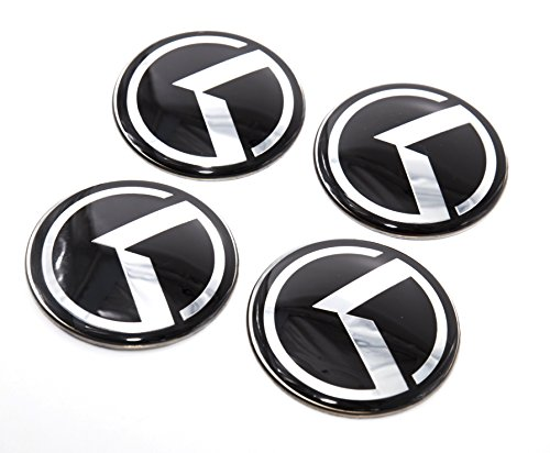 LIGHTKOREA 60mm 4Pcs 3D K Logo Wheel Center Caps Hub Decal Emblem Sticker Badge For Kia Stinger Niro Rio Sorento Sportage Optima Soul Cerato Forte Carnival Sedona Cadenza K900 Picanto Rondo