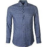 DSQUARED2 Camisa de Franela de algodón Azul comprobado Blue Small