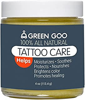 Green Goo All-Natural Skin Care, Tattoo Aftercare, Jar, 4 Ounce