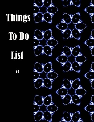 Things To Do List V4: List of Thing to do and Journal task Notepad daily Jot & Mark Size 8.5*11 inches 111 Full Pages for to do list and follow up task with art image for cover
