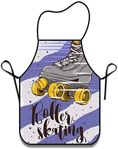 Agnes Carey Maschinenwaschbar Langlebig Rollschuh String Schürze für Frauen & Männer BBQ, Kochen, Arbeiten, Grillen, Backen, Basteln