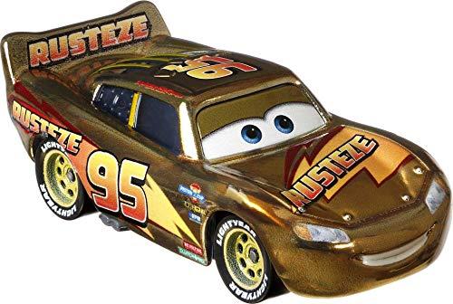 Oferta de Cars Rayo McQueeen Dorado Coche de juguete personaje, regalo para niños +3 años (Mattel GYG27)