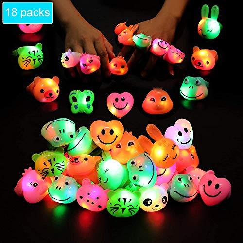 HUANDATONG Geburtstagsfeiergeschenke für Kinder, die blinkende LED-Lichter Ringspielzeug in der Masse Mädchengeschenke Party Partybedarf für Jungen und Mädchen blinken im Dunkeln