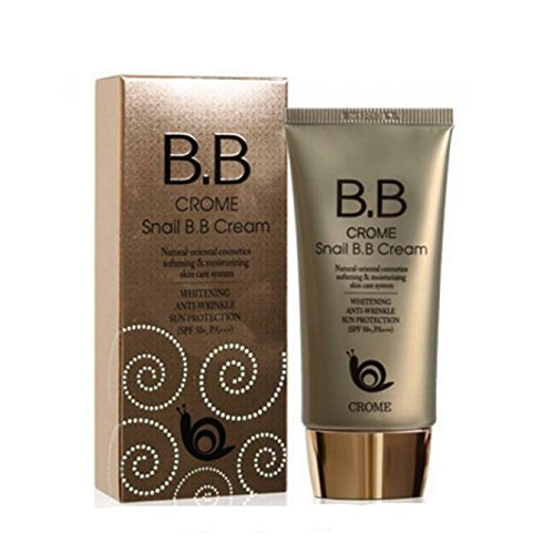 Crome Snail B.b Cream 50ml / Whitening,anti-wrinkle,sun Protection (Spf 50+,pa+++)