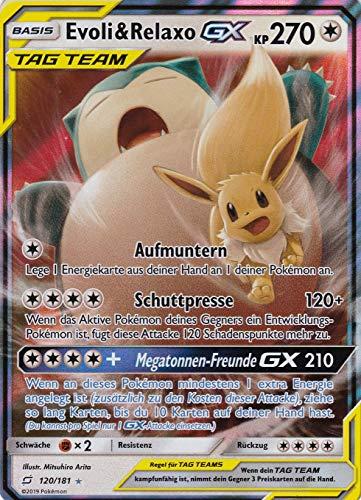 120/181 - Evoli & Relaxo GX - Rare Holo GX - Pokemon - Deutsch - Teams sind Trumpf