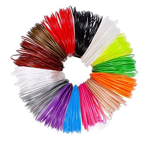 3D pluma recargas de alta temperatura 1.75mm PLA 3D impresora filamento recargas de diversos colores 12PCS