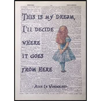 Alice In Wonderland Quote Vintage Large CANVAS Art Print A0 A1 A2 A3 A4
