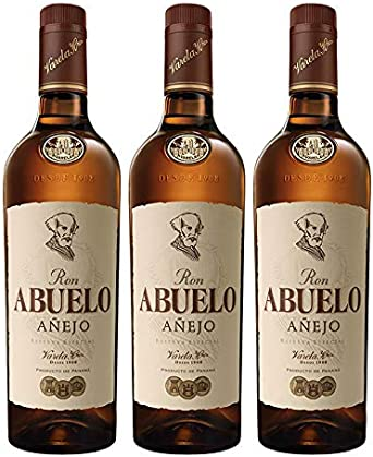 Ron Abuelo Añejo de 70 cl - Elaborado en Panama - Varela ...